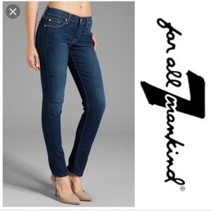 7 For All Mankind The Slim Cigarette Blue Janes 27